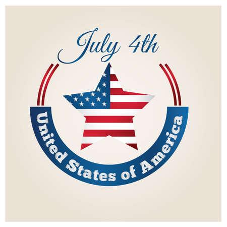 fourth of july: july fourth label