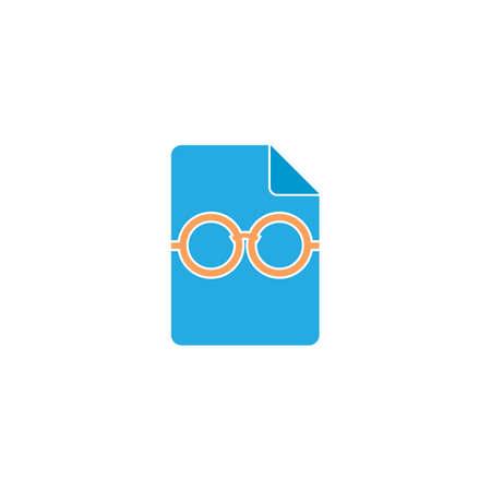pair of glasses: document icon