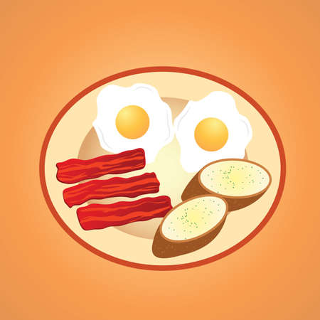 bacon strips: breakfast Illustration