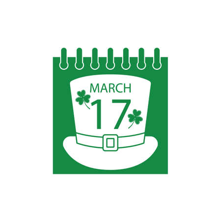 17 march: calendar with date 17 march