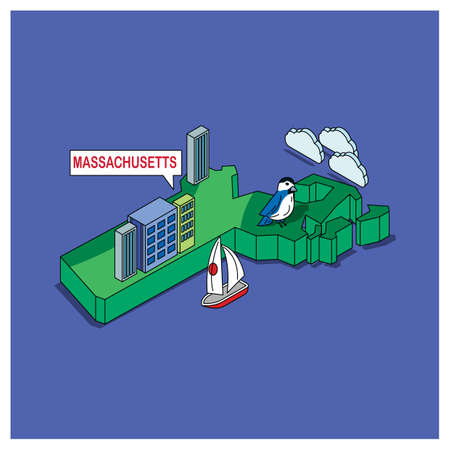 massachusetts: massachusetts state Illustration