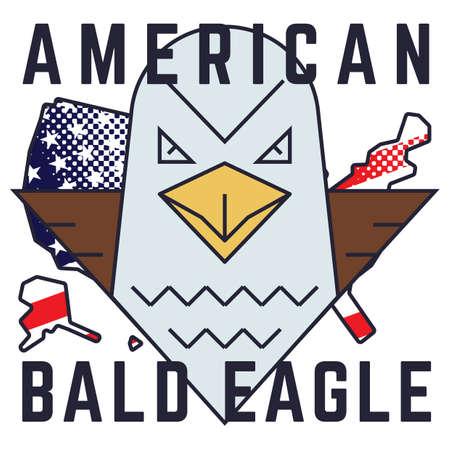 american bald eagle: american bald eagle poster Illustration