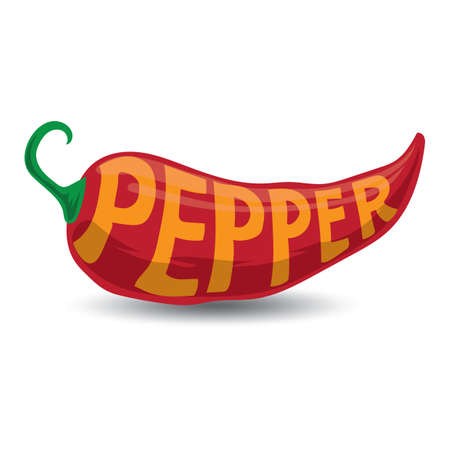 chilly: word pepper on chilly Illustration