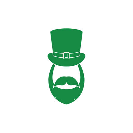 st  patricks: st patricks hat beard and mustache Illustration