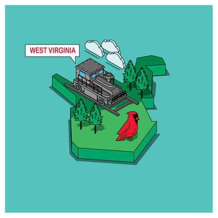 vogelspuren: Staat West Virginia