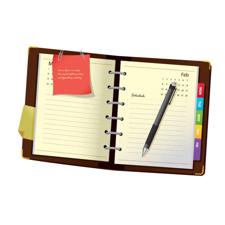 diary: diary with pen Illustration