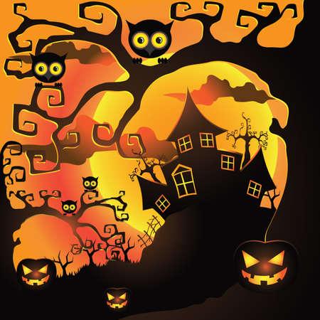 night: halloween night Illustration