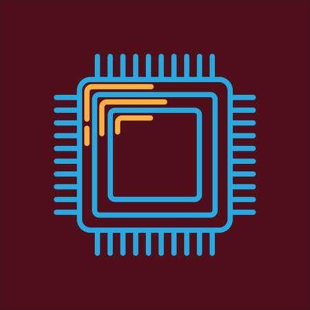 mother board: processor chip