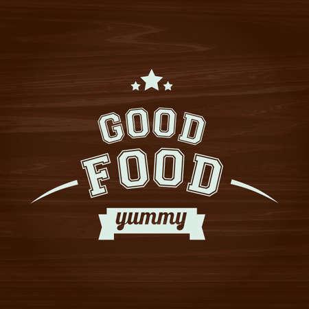 yummy: good food yummy text