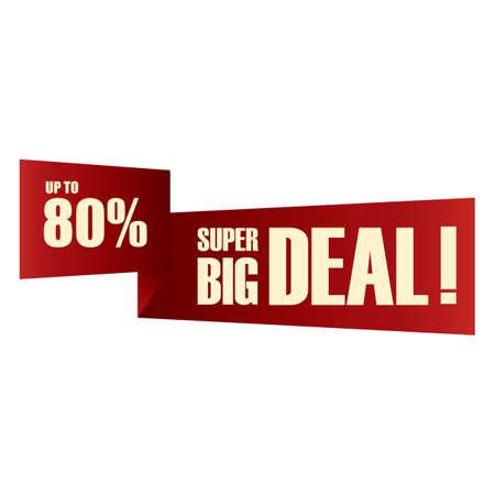 big deal: super big deal label Illustration