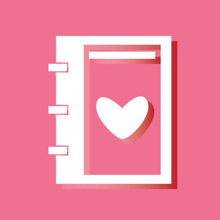 contacting: address book with heart