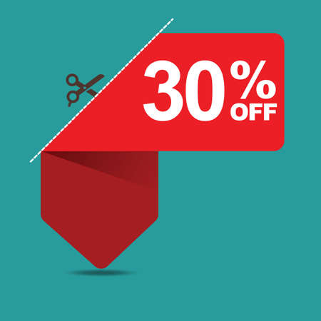 the 30: 30 percent off sale Illustration