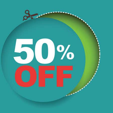 50: 50 percent off sale Illustration