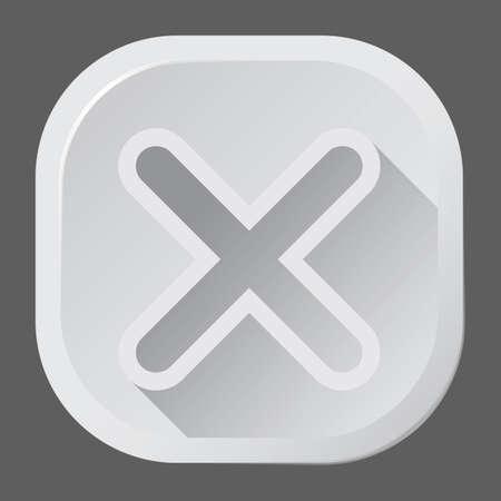 x marks: cancel button