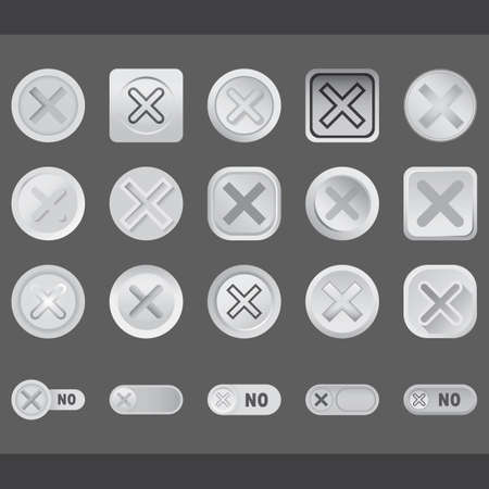 x marks: set of cancel button icons