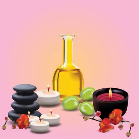 rejuvenation: massage collection Illustration