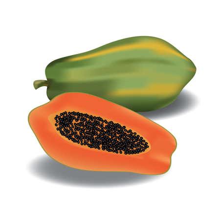 papaya: papaya with slice