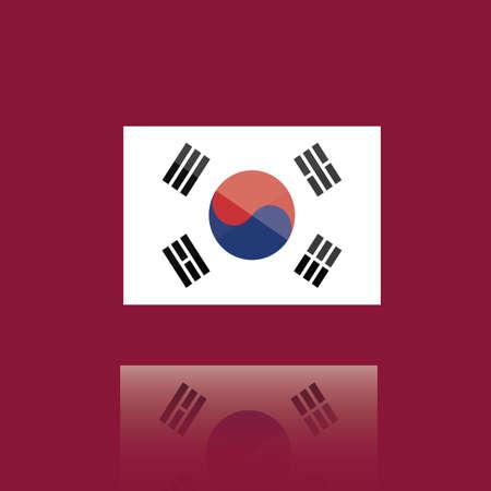national identity: korean flag
