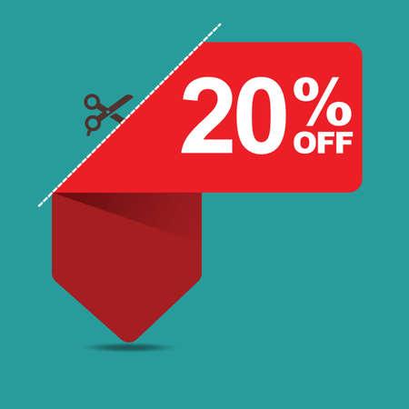 20: 20 percent off sale Illustration
