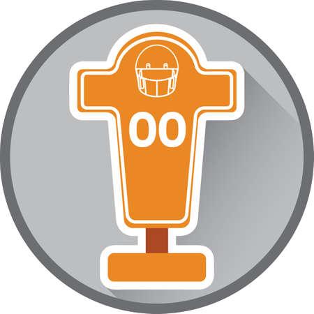 blocking: american football blocking dummy Illustration