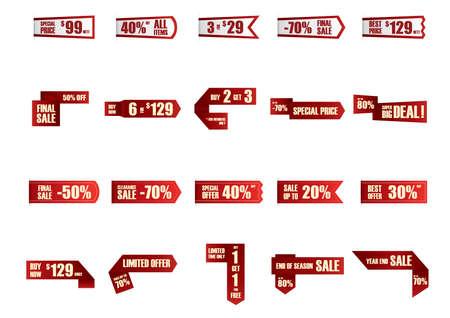 big deal: sale labels set