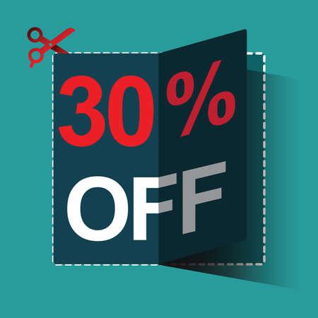 30: 30 percent off sale Illustration