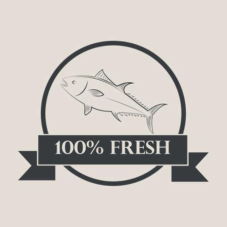 hundred: hundred percent fresh fish label