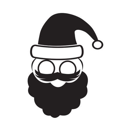 clause: santa clause face Illustration