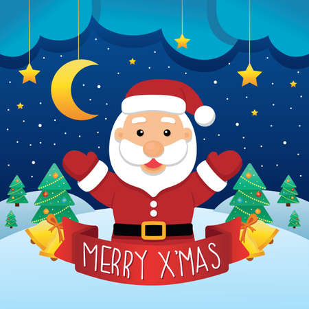 x mas background: santa with christmas background