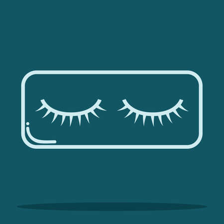 eye lashes: false eye lashes Illustration