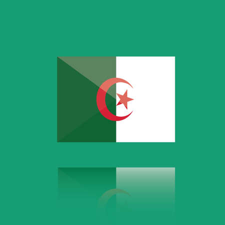 national identity: algeria flag Illustration