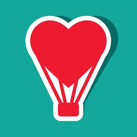 shaped: heart shaped parachute