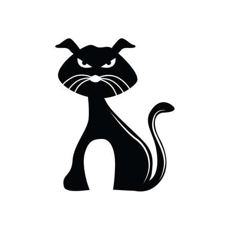 black: black cat Illustration