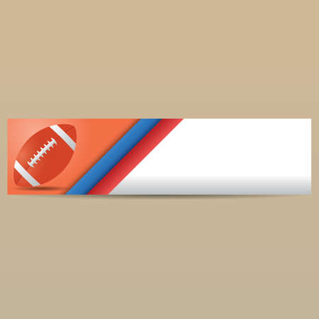 bannière football: bannière de football américain Illustration