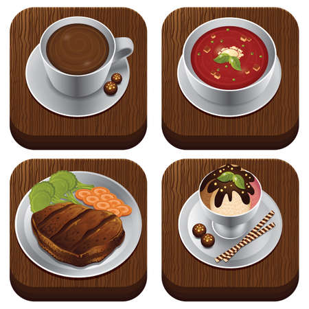 trencher: food item set