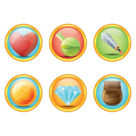 fantasy: set of fantasy icons
