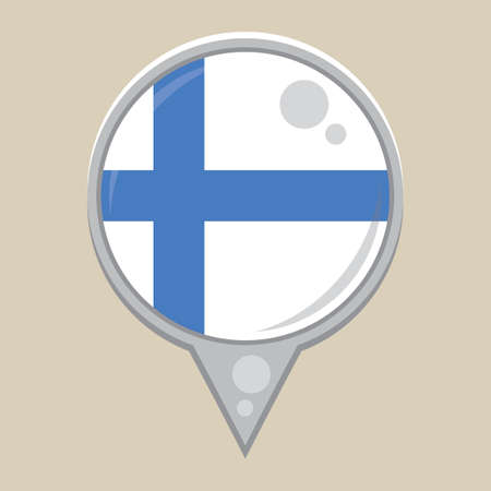 national identity: finland flag Illustration