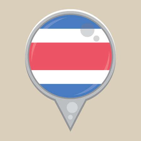costa: costa rica flag