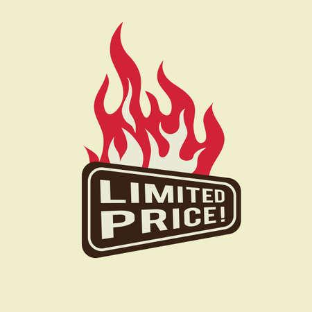 limited: limited price label design