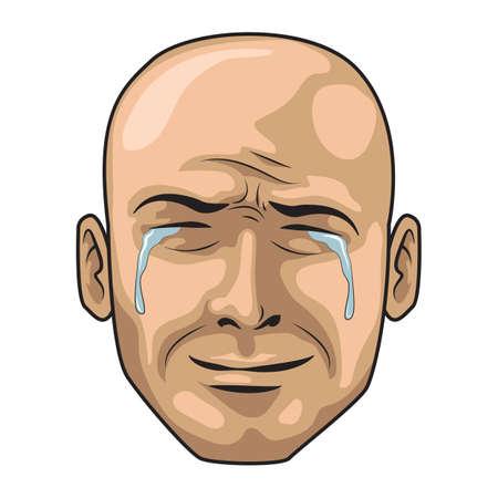 weep: crying man