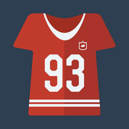 jersey: american football jersey Illustration