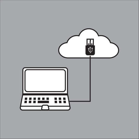 uploading: laptop with uploading symbol