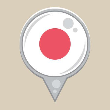 national identity: japanese flag Illustration