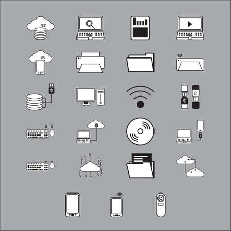 hard to find: computer icon set