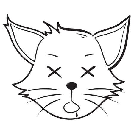 死んだ猫  イラスト・ベクター素材