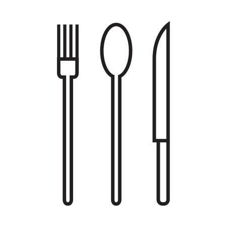 basic food: fork, spoon and knife