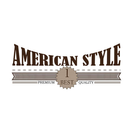 style: american style label