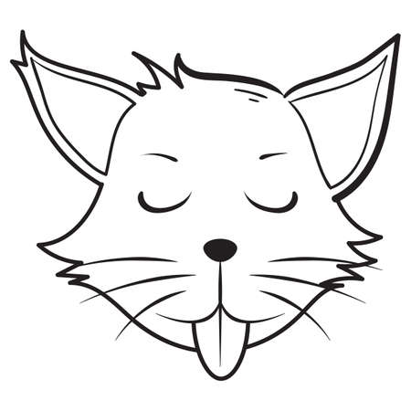 tease: teasing cat Illustration