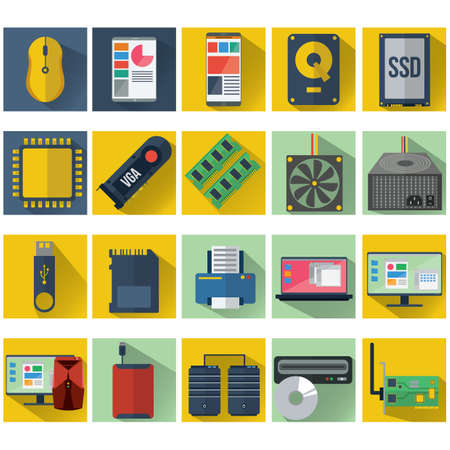 vga: computer icon set