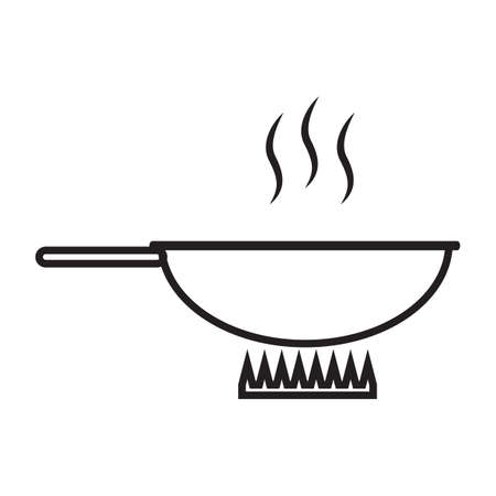 pan: cooking pan on stove Illustration